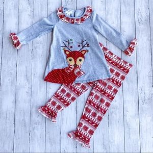 Bonnie Jeans Reindeer Christmas 2 Piece Outfit 5